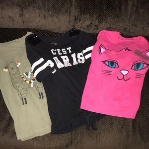 Other - Girls Set of 3 Shirts 👚